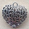 Alloy Metal Charms ~ 50mm Large Filigree Heart x 1 pc