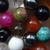 GEMSTONE MIX~ Smooth Round 10mm Beads x 55