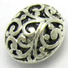 Alloy Metal Beads ~ 16x13mm Puffy Oval x 10 pcs
