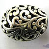 Alloy Metal Beads ~ 22x18mm Puffy Oval x 10 pcs
