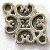 Alloy Metal Charms ~ 18x14mm Flat Filigree Diamond x 20 pcs