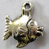 Alloy Metal Charms ~ 15x13mm Fish x 20 pcs