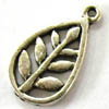 Alloy Metal Charms ~ 22x12mm Flat Leaf x 20 pcs