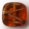 Czech Lampwork ~REEDS~ 14mm Square BROWN x 1