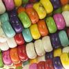 HOWLITE MIX ~ Rondelle 4x6mm Beads x 95