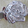 Sterling Silver Box Clasp ~ Small Rose x 1 set