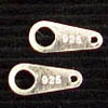 Sterling Silver End Tags 8mm x 10 pc