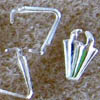 Triangle Bails ~ 7mm Silver Plated x 20 pcs