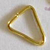 Triangle Bails ~ 7mm Plain Gold Plated x 100 pcs