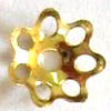 6mm Flower Bead Caps ~ Gold Plated x 50 pcs