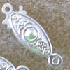 Fishhook Clasps ~ 20mm Silver Plated x 5 sets