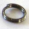 Split rings ~ 6mm Black Nickel Plated x 50 pcs