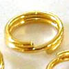Split rings ~ 6mm Gold Plated x 50 pcs