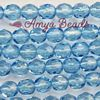 Fire-polished Faceted Round ~ 8mm AQUAMARINE x 75