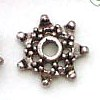 Star Bead Caps ~ 8mm Antique Silver x 30 pcs
