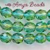 Fire-polished Faceted Round ~ 6mm BLUE/GREEN x 80