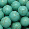 *BULK* BLUE HOWLITE ~ 8mm Smooth Round Beads x 5 strands