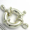 Bolt Ring Clasps ~ Large 15mm Silver Plated x 1 pc