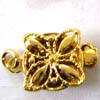 Box Clasp ~ 10mm Round Gold Colour x 1