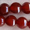 CARNELIAN ~ 14mm Hexagonal Barrels x 28pc