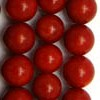 CORAL RED A-grade ~ 10mm Smooth Round Beads x 40