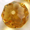 Phoenix Crystal ~ Faceted Rondell LT AMBER 11x14mm x 6 pcs