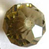 Phoenix Crystal ~ Faceted Rondell GREY 6x8mm x 10pcs