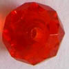 Phoenix Crystal ~ Faceted Rondell RED 7x9mm x 10 pcs