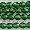 Fire-polished Faceted Round ~ 8mm EMERALD x 75