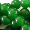 GREEN JADE ~ 6mm Smooth Round Beads x 67