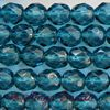 Fire-polished Faceted Round ~ 8mm INDIGO x 75