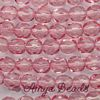 Fire-polished Faceted Round ~ 8mm LIGHT ROSE x 75