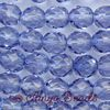 Fire-polished Faceted Round ~ 8mm LIGHT SAPPHIRE x 75