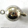 Magnetic Clasps ~ Round Ball Nickel Colour x 1 pc