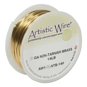 Artistic Wire ~ Non-tarnish BRASS 22 ga. x BULK Pack (38.40m)