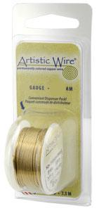 Artistic Wire ~ Non-tarnish BRASS 22 ga. x Dispenser Pack (7.30m