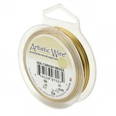 Artistic Wire ~ Non-tarnish BRASS 22 ga. x Retail Pack (13.72m)