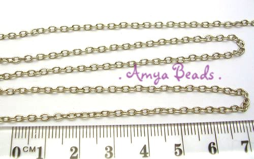 Metal Cable Chain ~ 2.5mm Nickel x 1m