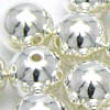 Round Metal Beads ~ Silver 12mm x 10 pcs
