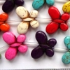 HOWLITE MIX ~ Butterfly 20mm Beads x 15