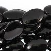 BLACK ONYX ~ Puffy Oval 18x13mm Beads x 22