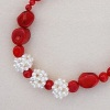 PEARL CLUSTER & RED CORAL Necklace Kit