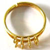 Ring Shank 8-loop ~ Gold Plated x 2 pcs