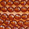 Fire-polished Faceted Round ~ 8mm SMOKED TOPAZ x 75