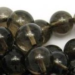 SMOKY QUARTZ ~ 8mm Smooth Round Beads x 50