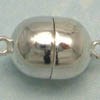 Sterling Silver Magnetic Clasp ~ 14mm Oval x 1 set