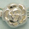 Sterling Silver Box Clasp ~ Large Rose x 1 set