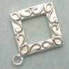 Sterling Silver Toggle Clasp Square 14mm x 1 set