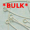 Sterling Silver Thin Eyepins ~ 40mm x 100 pc