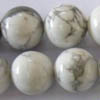 *BULK* WHITE HOWLITE ~ 8mm Smooth Round Beads x 5 strands